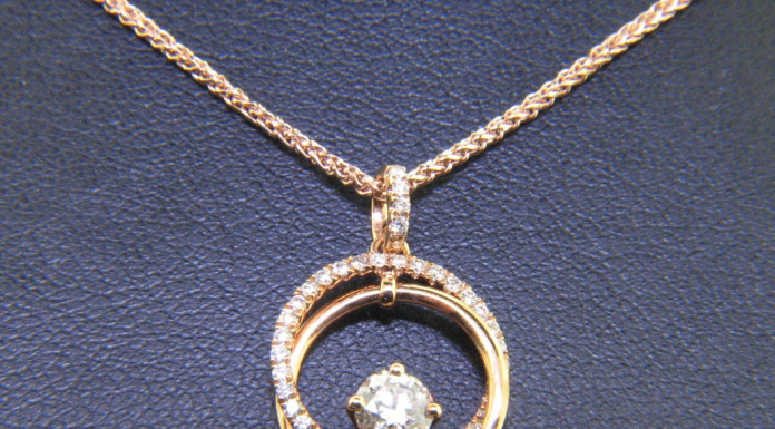 Engraved ring necklace