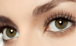 beautiful eyes with long eyelash